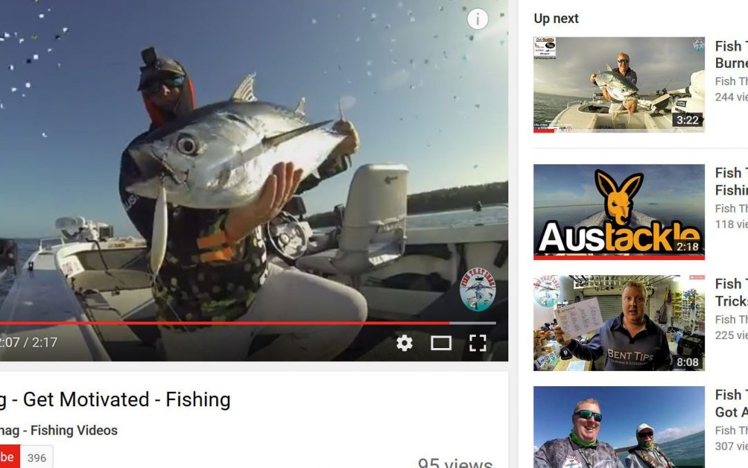 Austackle in action for Fish That Snag on You Tube